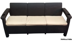 Трехместный диван Yalta Sofa 3 Seat Chocolate арт.6490